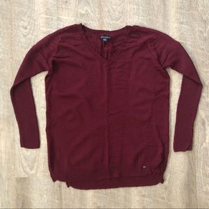 American Eagle Burgundy Sweater